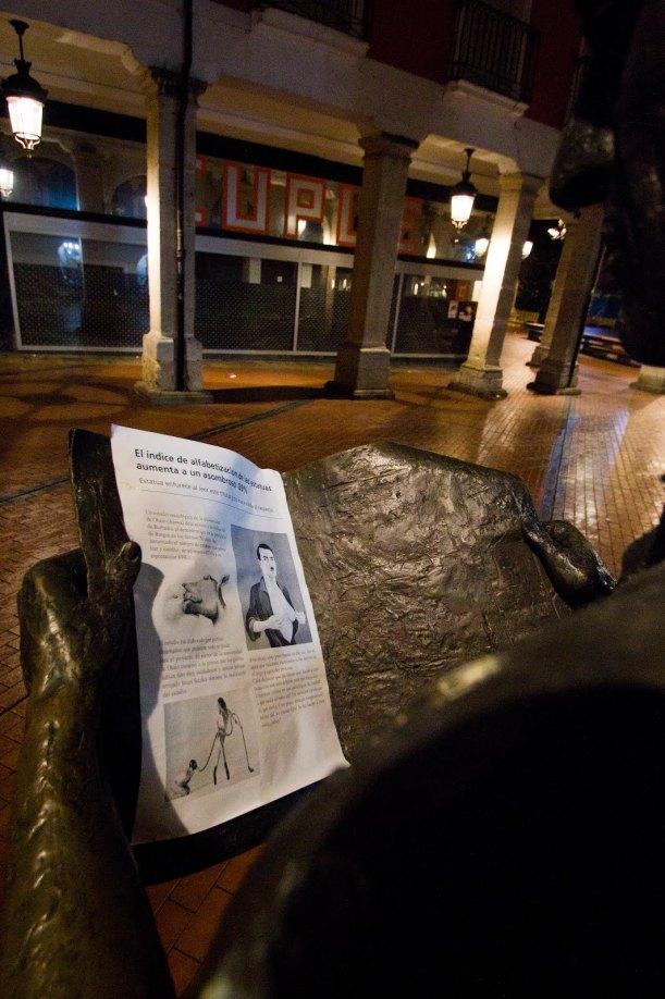 Intervención estatua Burgos