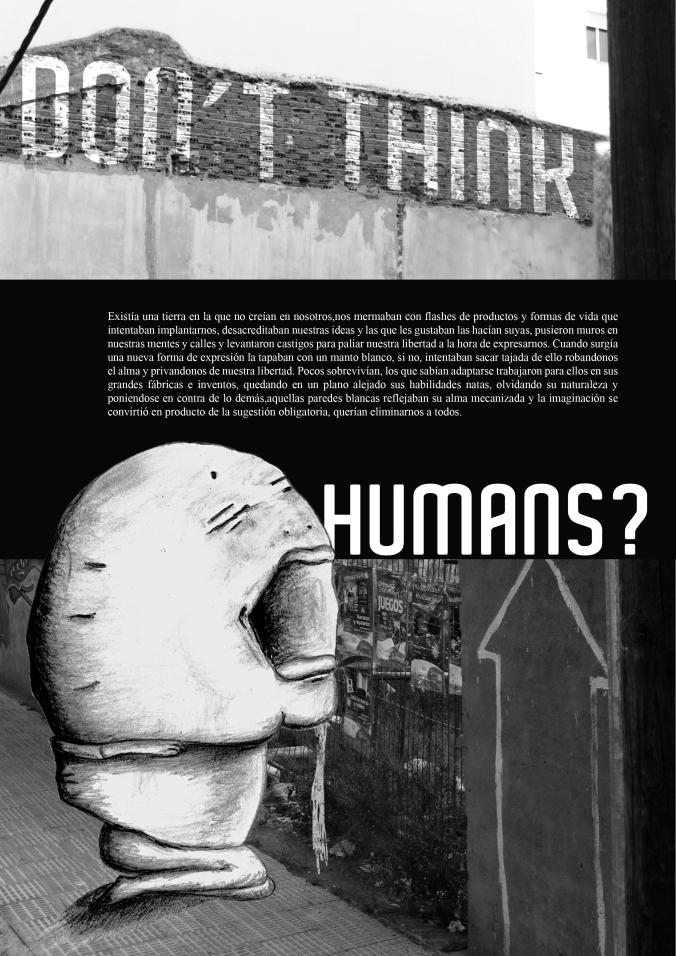 humanos burgando