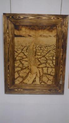 desierto pirograbado