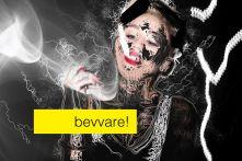 beware, imágenes en la pantalla