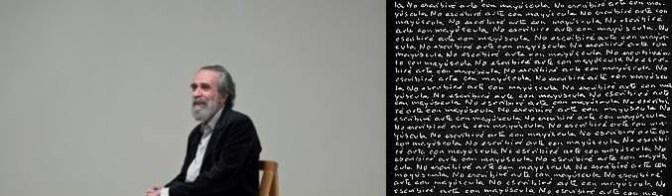 Sábado, 12 DE MARZO de 2016. 19.00h NO ESCRIBIRÉ ARTE CON MAYÚSCULA de Luis Deltell y Miguel Angel Álvarez- Fernández ESTRENO