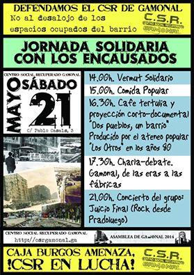 Sábado 21 de mayo Jornadas solidarias