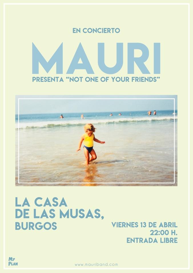 Cartel Concierto Burgos Casa de las Musas Mauri